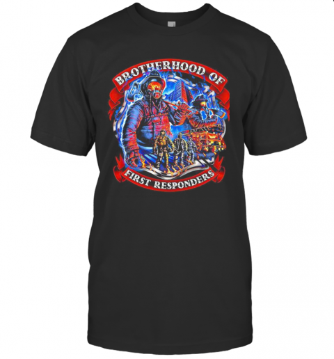 Firefighter Brotherhood Of First Responders T-Shirt Classic Men's T-shirt