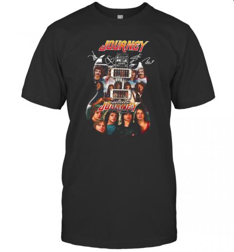 Guitar Journey Band Members Signatures T-Shirt Classic Men's T-shirt
