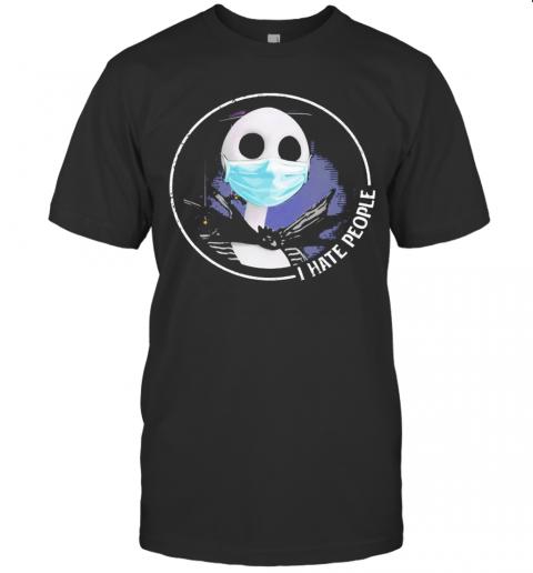 Halloween Jack Skellington Mask I Hate People T-Shirt Classic Men's T-shirt