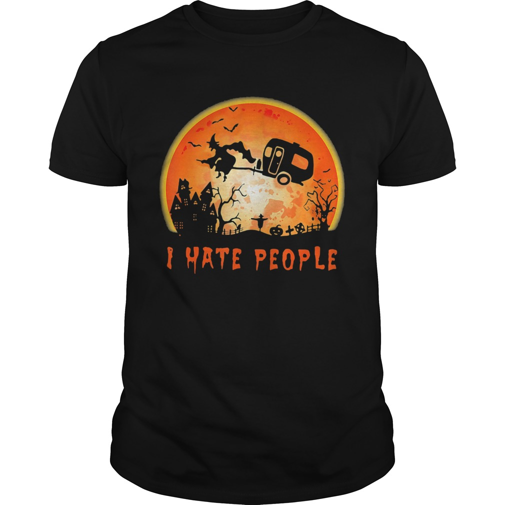 Halloween witch i hate people moon  Unisex