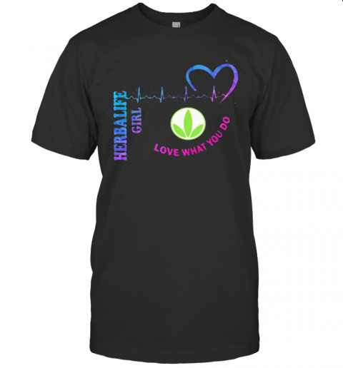 Herbalife Girl Love What You Do Heartbeat T-Shirt Classic Men's T-shirt