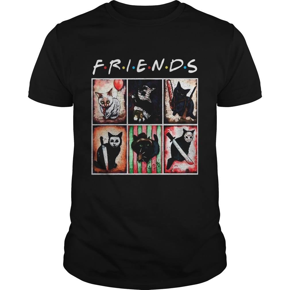 Horror Characters Cat Version Friends  Unisex