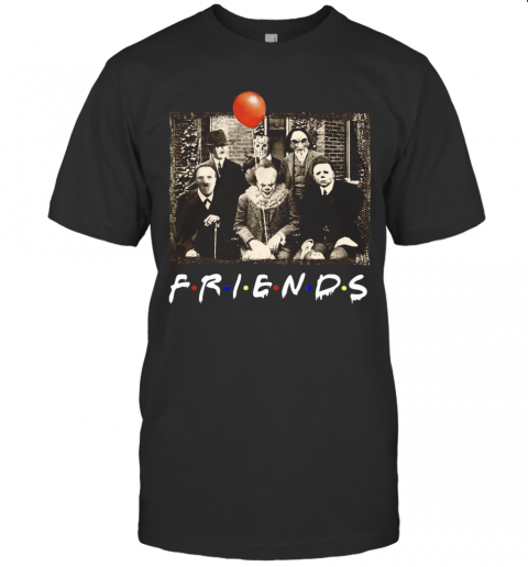 Horror Movie Characters Friends TV Show T-Shirt Classic Men's T-shirt