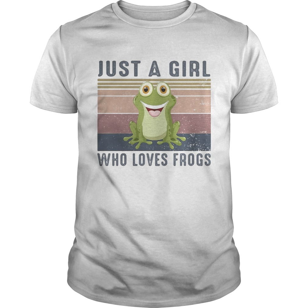 Just a girl who loves frogs vintage retro  Unisex