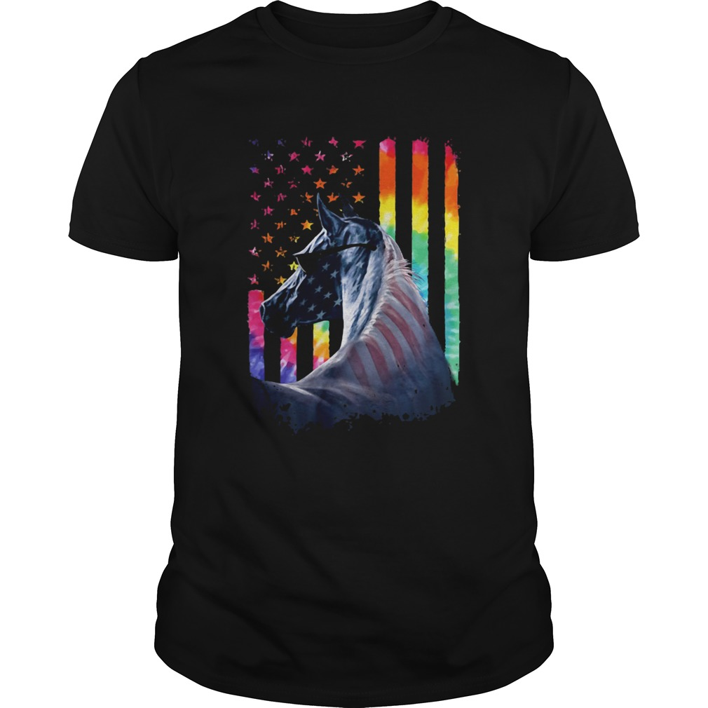 Lgbt horse american flag independence day  Unisex