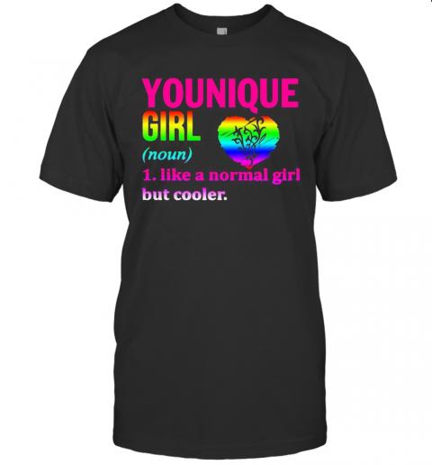 Lgbt Younique Girl Like A Normal Girl But Cooler Heart T-Shirt Classic Men's T-shirt