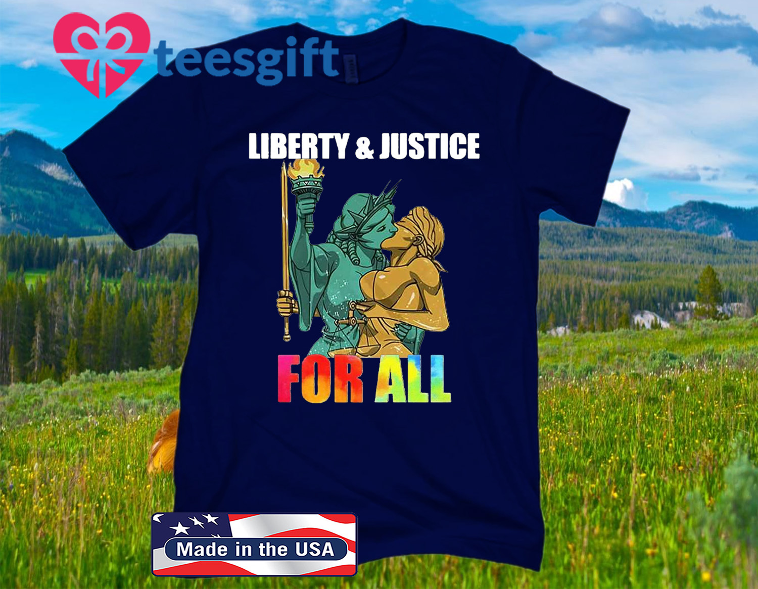 Liberty And Justice For All LGBT Pride 2020 Shirt