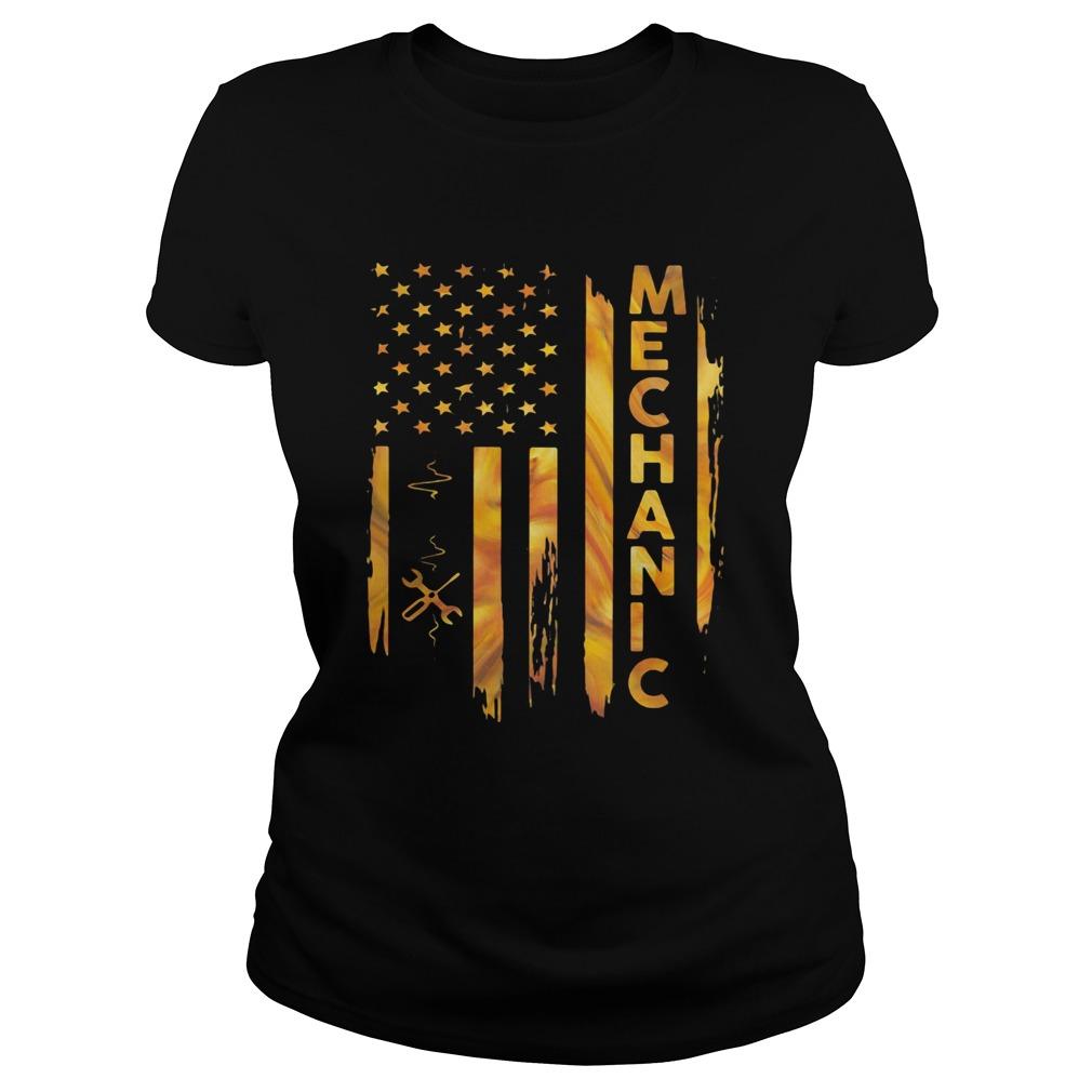 Mechanic American Flag  Classic Ladies