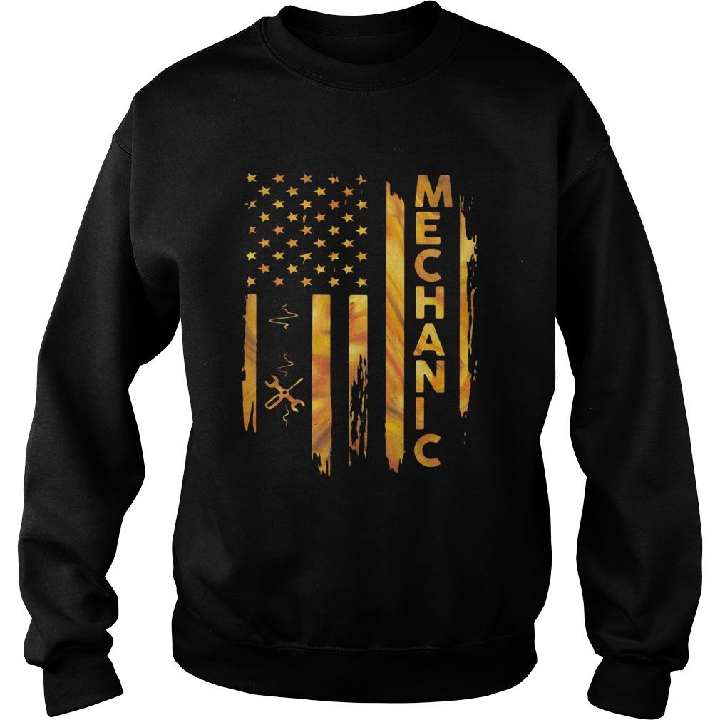 Mechanic American Flag  Sweatshirt
