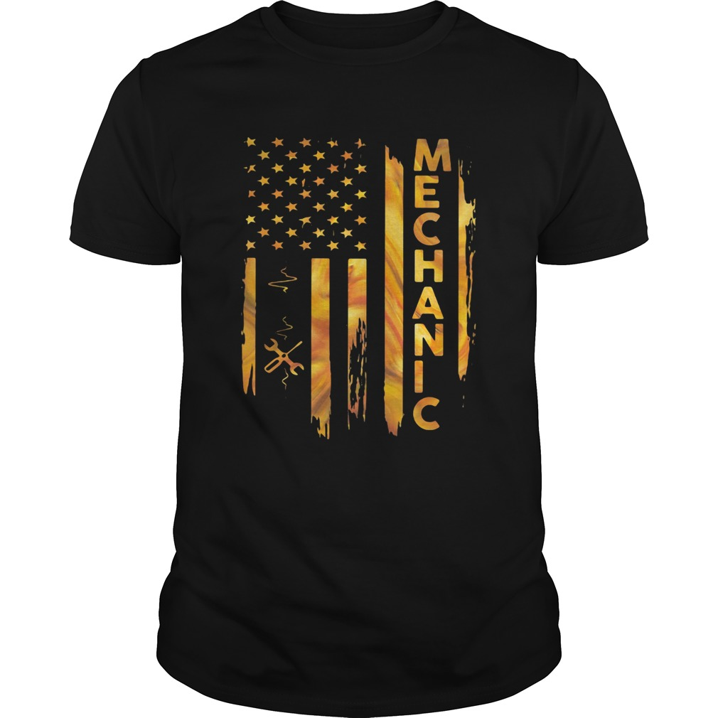 Mechanic American Flag  Unisex