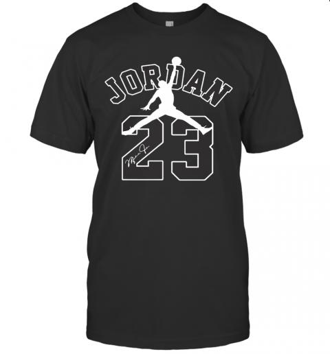 Michael Jordan 23 Chicago Bulls Basketball Signature T-Shirt Classic Men's T-shirt