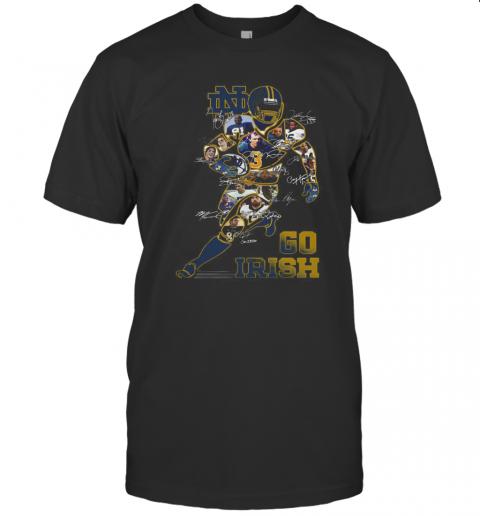 Notre Dame Fighting Irish Go Irish Signatures T-Shirt Classic Men's T-shirt