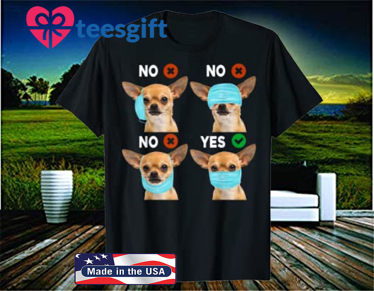 Official Quarantined Chihuahua Dog How To Wear Mask Shirt