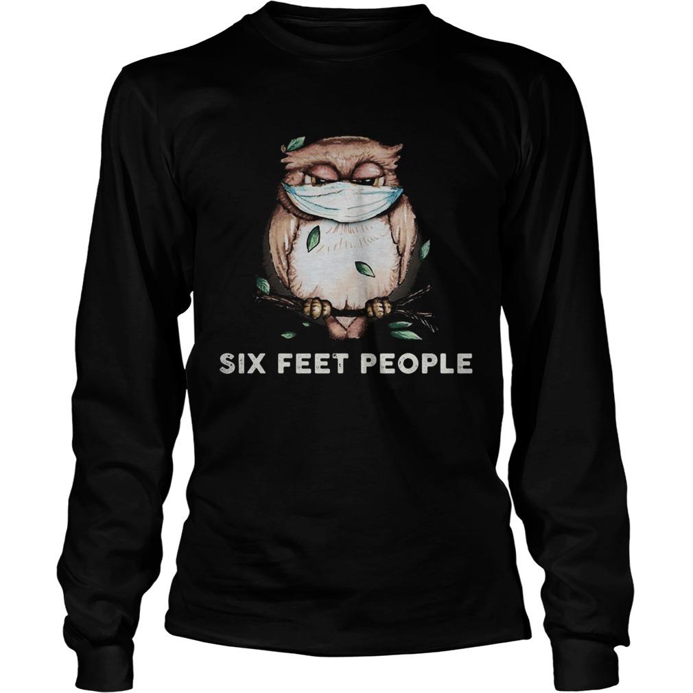 Owl mask six feet people  Long Sleeve