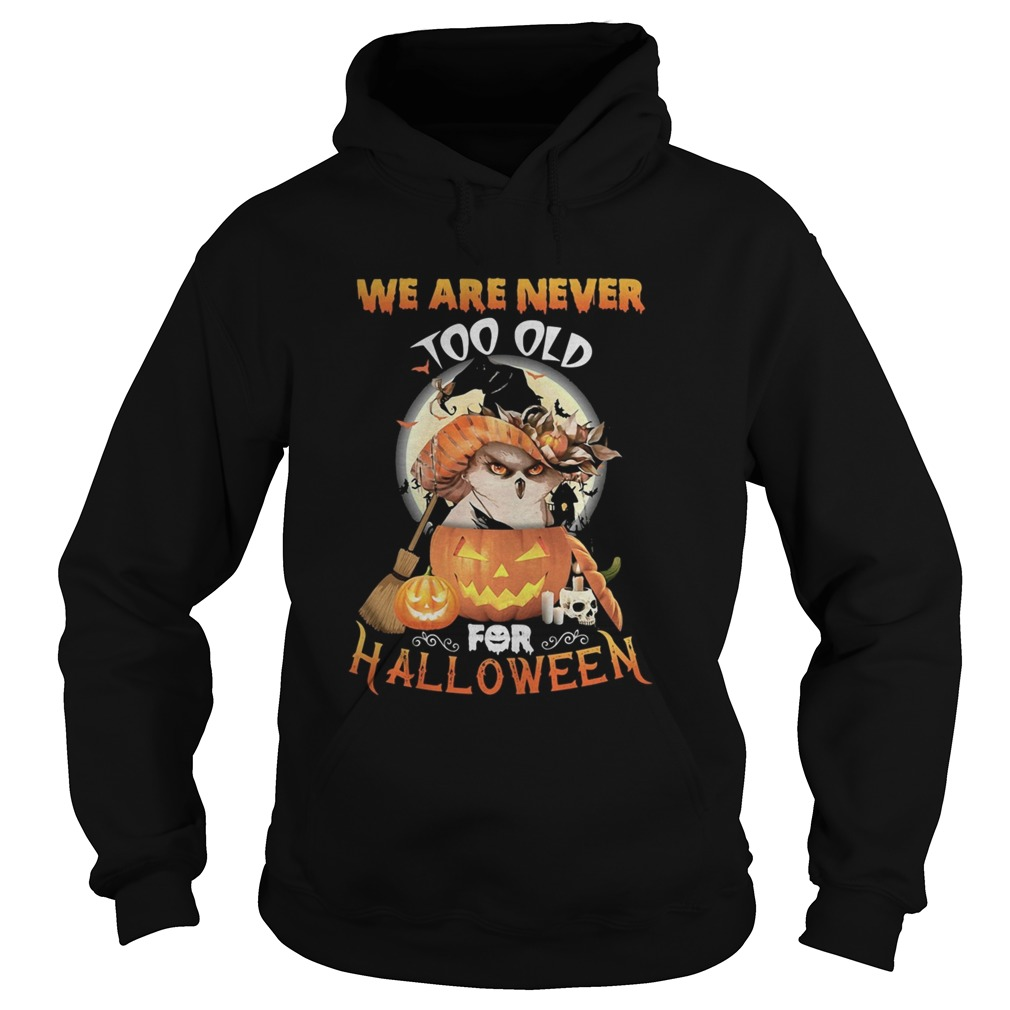 Owl we are never too old for halloween  Hoodie