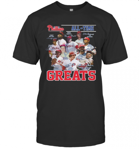 Philadelphia Phillies All Time Greats Baseball Signatures T-Shirt Classic Men's T-shirt