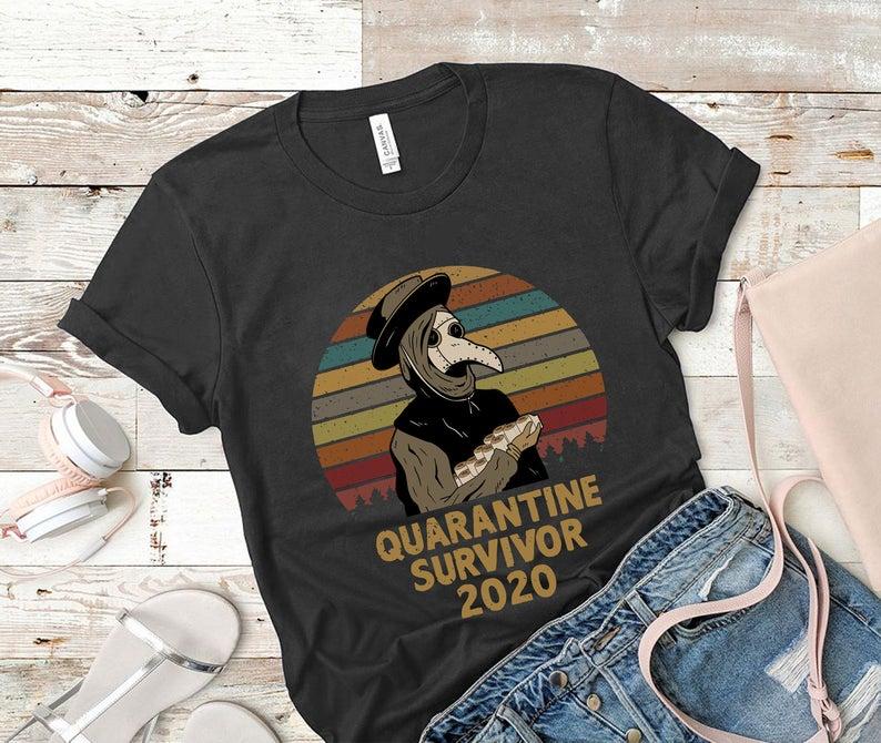 Plague Doctor Quarantine Survivor 2020 TShirt, Plague Doctor TShirt, Survivor Tee Dr. Plague Medicine Tshirt