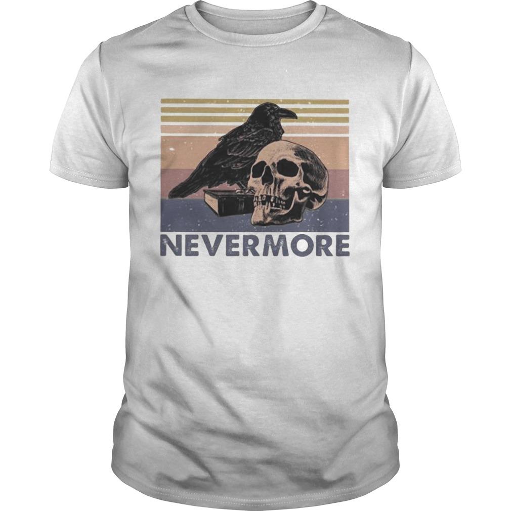 Raven Skull Nevermore vintage retro  Unisex