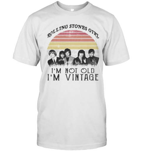 Rolling Stones Girl I'M Not Old I'M Vintage Retro Signatures T-Shirt Classic Men's T-shirt