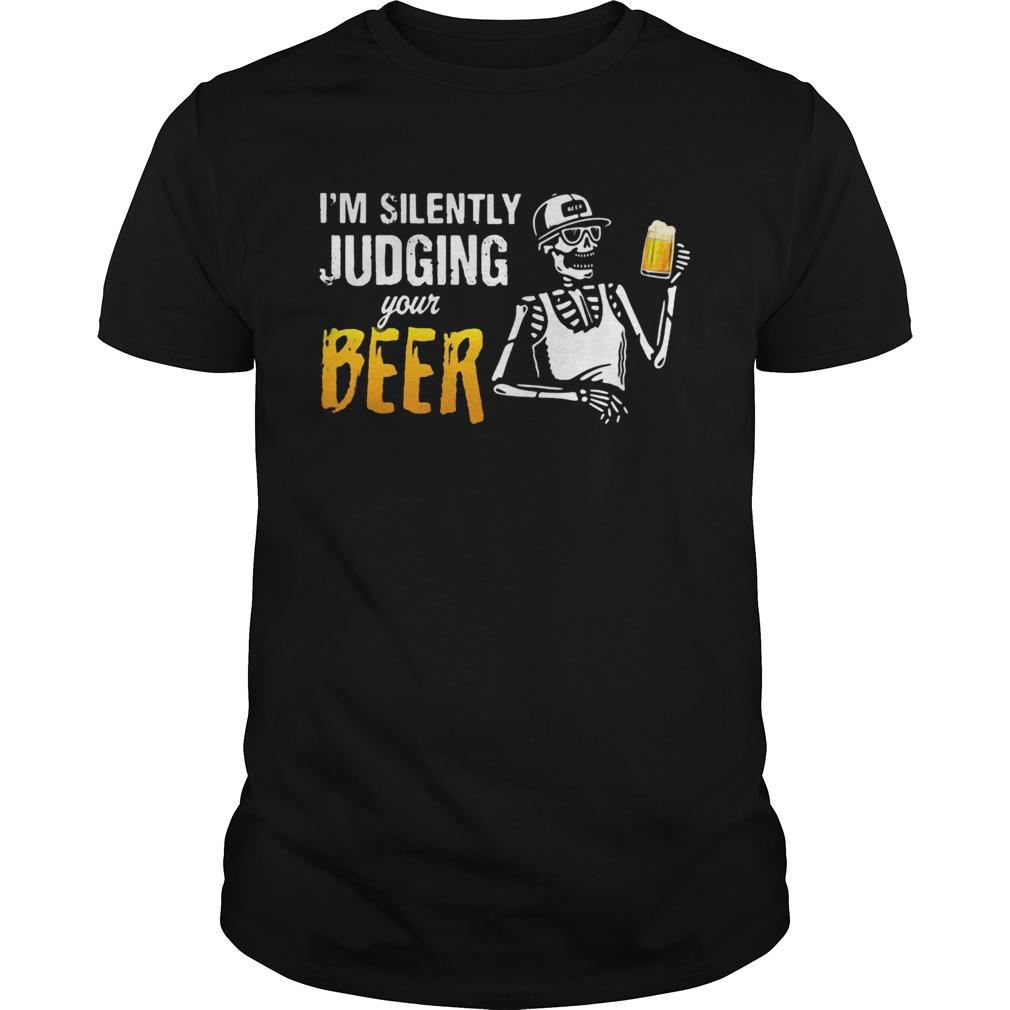 Skeleton Im silently judging your beer  Unisex