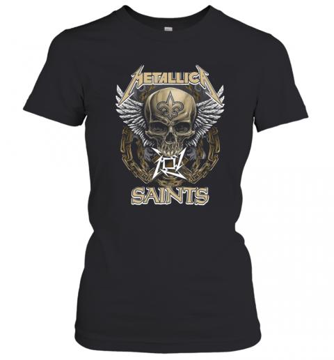 Skull Metallic Saints T-Shirt Classic Women's T-shirt