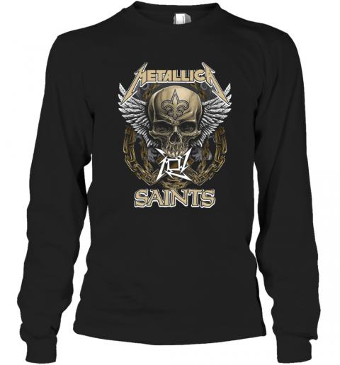Skull Metallic Saints T-Shirt Long Sleeved T-shirt