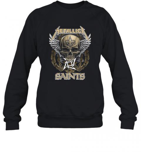 Skull Metallic Saints T-Shirt Unisex Sweatshirt