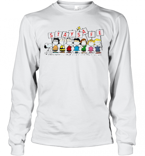 Snoopy And Friends Stay Safe T-Shirt Long Sleeved T-shirt