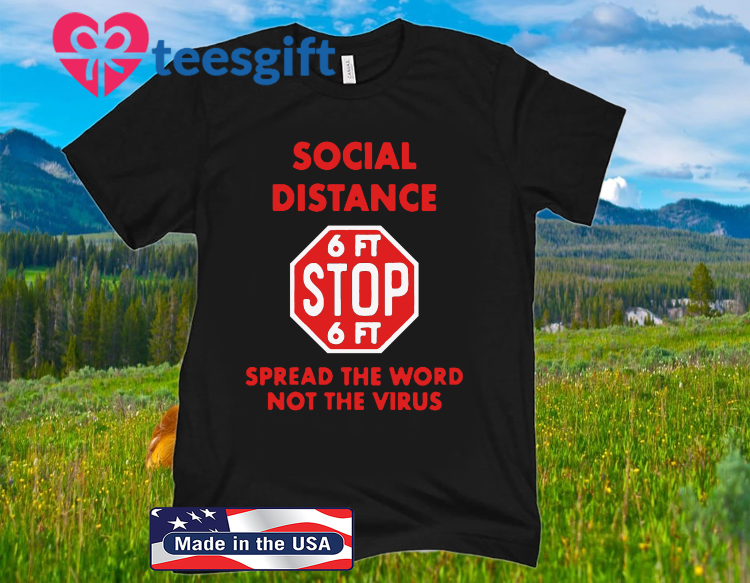 Social Distance Stop Sign Unisex Shirts