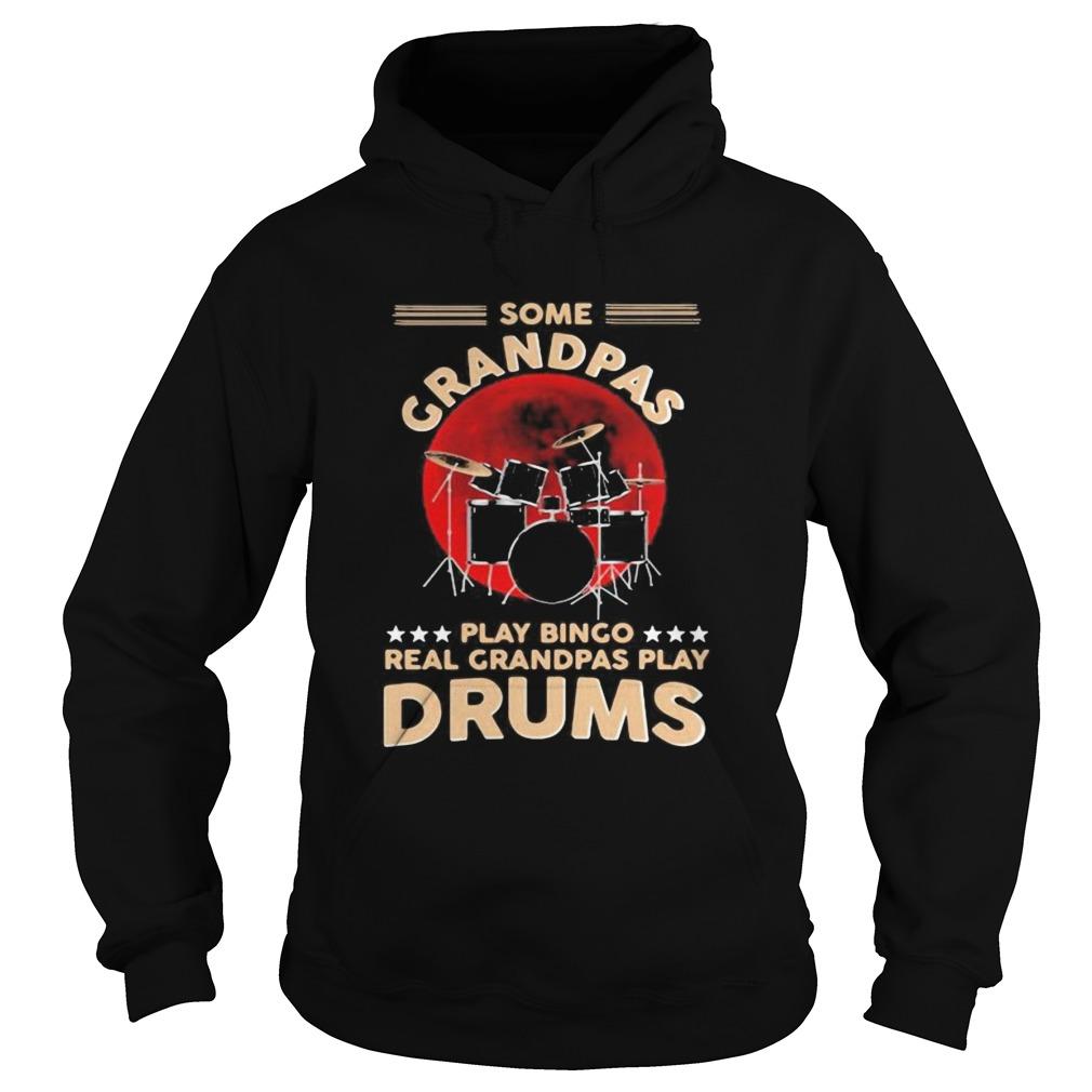Some grandpas playing bingo real grandpas play drums sunset  Hoodie