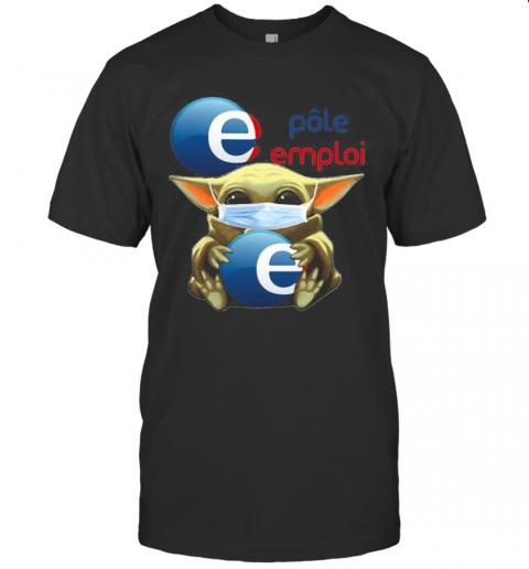 Star Wars Baby Yoda Mask Hug Polo Emplai T-Shirt Classic Men's T-shirt