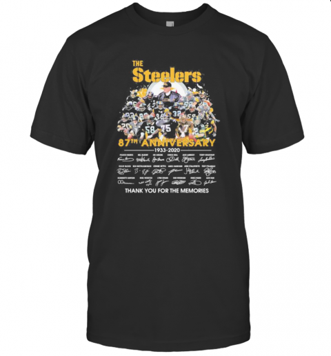 The Steelers 87Th Anniversary 1933 2020 Thank You For The Memories Signatures T-Shirt Classic Men's T-shirt