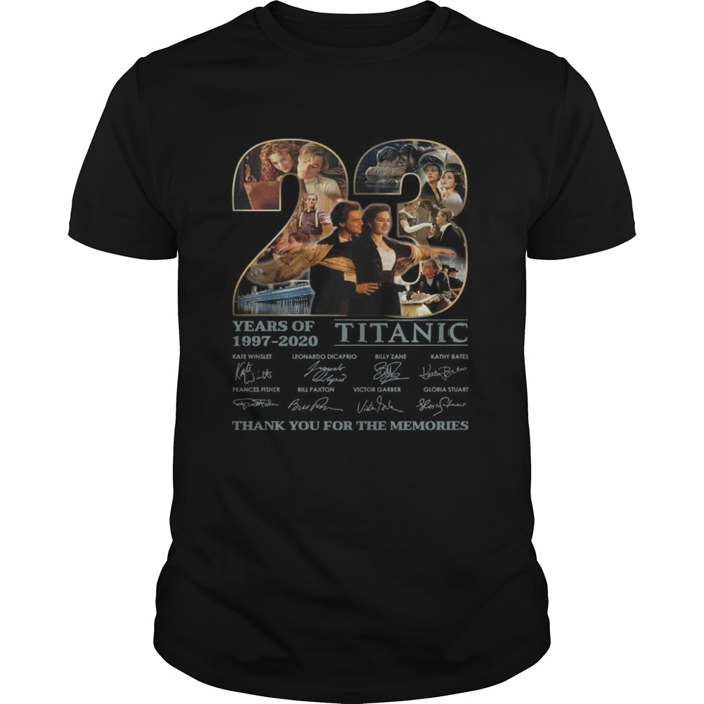 Titanic 23 Years Of Release Thank You For The Memories Signatures  Unisex