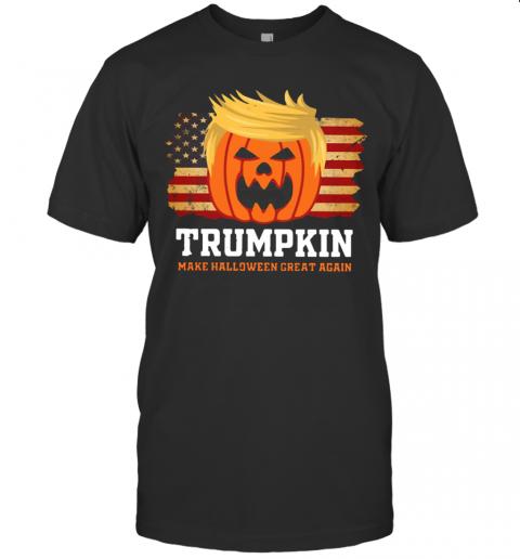 Trumpkin Make Halloween Great Again American Flag T-Shirt Classic Men's T-shirt