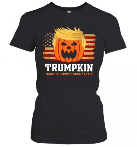 Trumpkin Make Halloween Great Again American Flag T-Shirt Classic Women's T-shirt