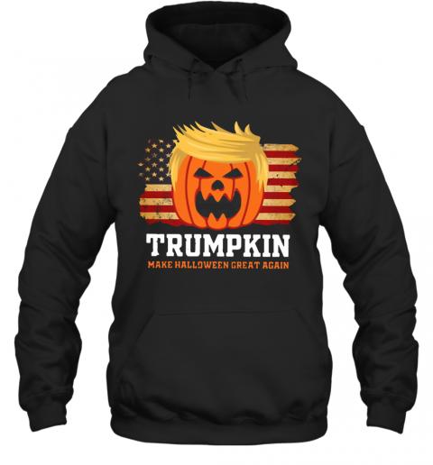 Trumpkin Make Halloween Great Again American Flag T-Shirt Unisex Hoodie