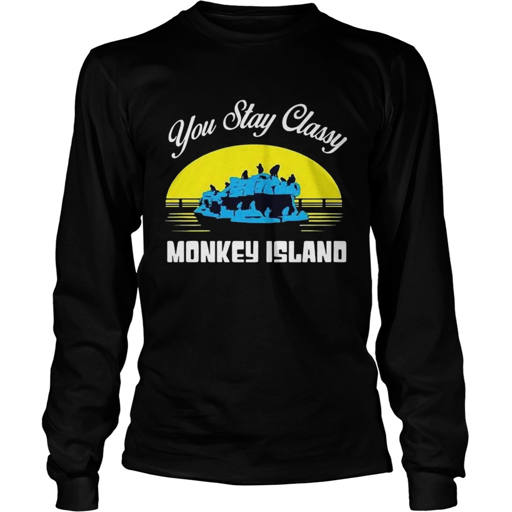 You Stay Classy Monkey Island  Long Sleeve
