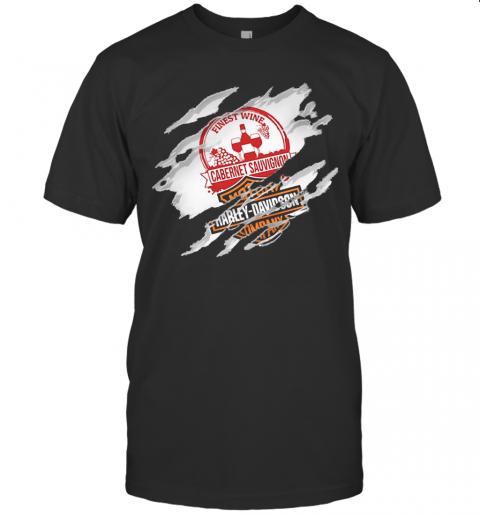 Blood Inside Me Cabernet Sauvignon Motor Harley Davidson Company T-Shirt Classic Men's T-shirt
