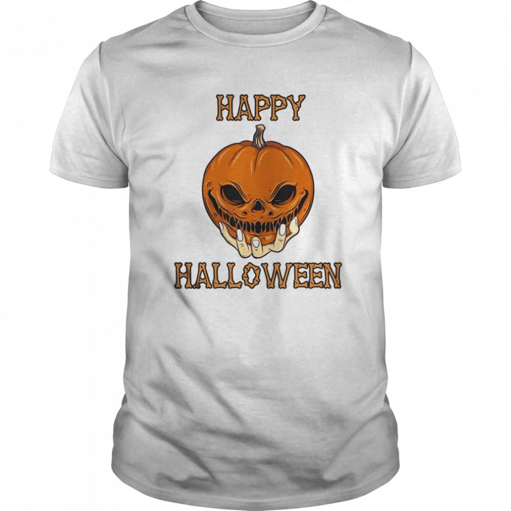 Bones Scary Pumpkin Face  Classic Men's T-shirt