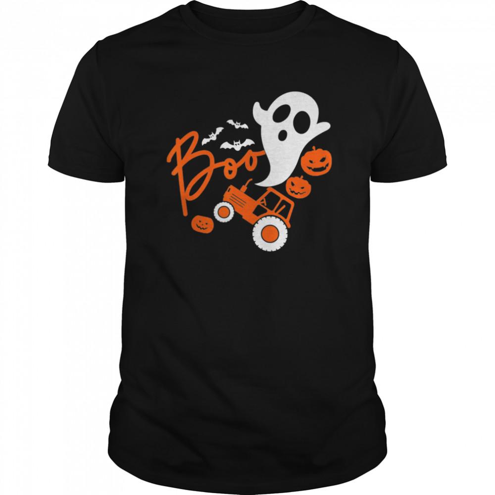 Boo Tractor Farmer Pumpkin Halloween  Classic Men's T-shirt