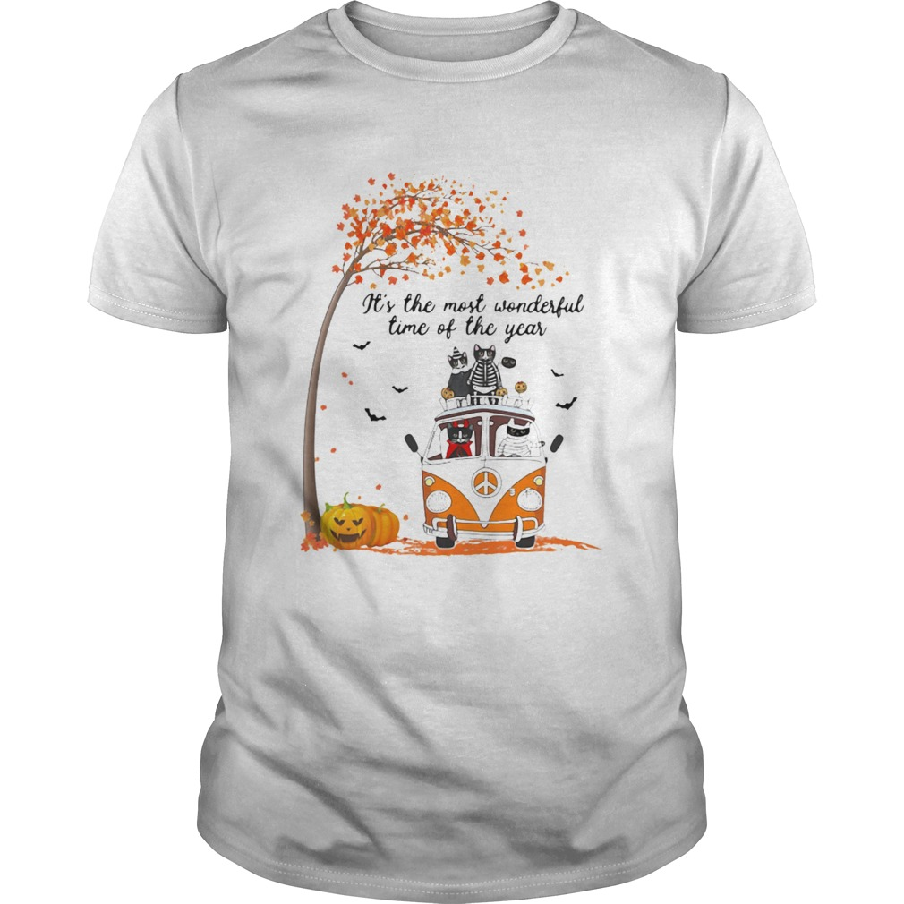 Cat riding peace its the most wonderful time of the year leaves tree  Unisex