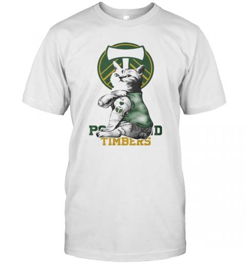 Cat Tattoos Portland Timbers Logo T-Shirt Classic Men's T-shirt