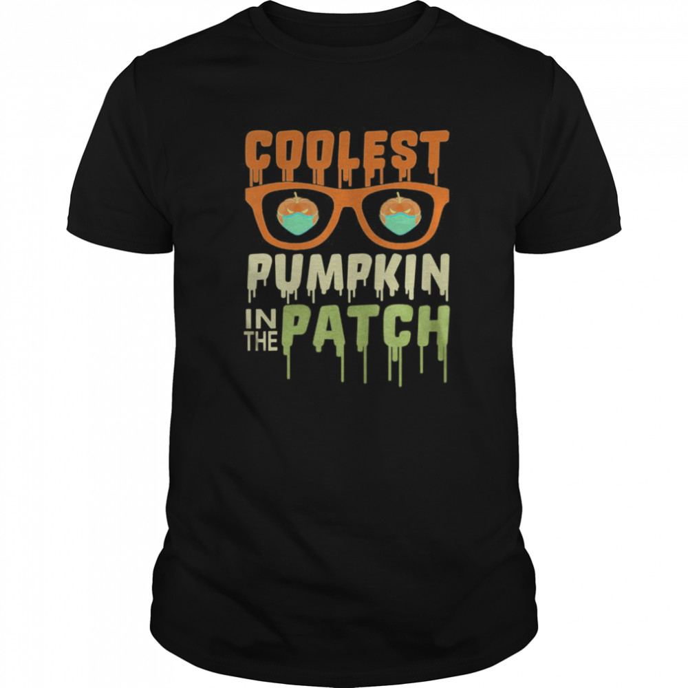 Coolest Pumpkin In The Patch Halloween  Classic Men's T-shirt