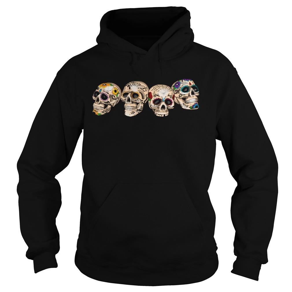 Dia De Los Muertos Day Of The Dead Sugar Skulls  Hoodie