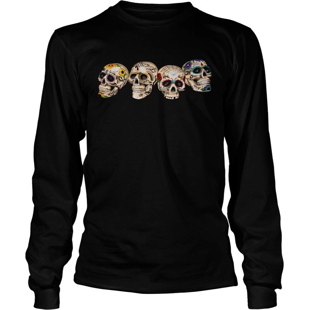 Dia De Los Muertos Day Of The Dead Sugar Skulls  Long Sleeve