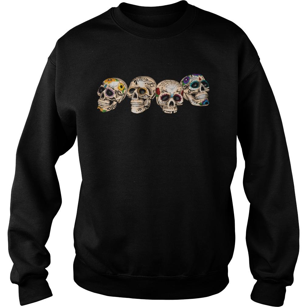 Dia De Los Muertos Day Of The Dead Sugar Skulls  Sweatshirt
