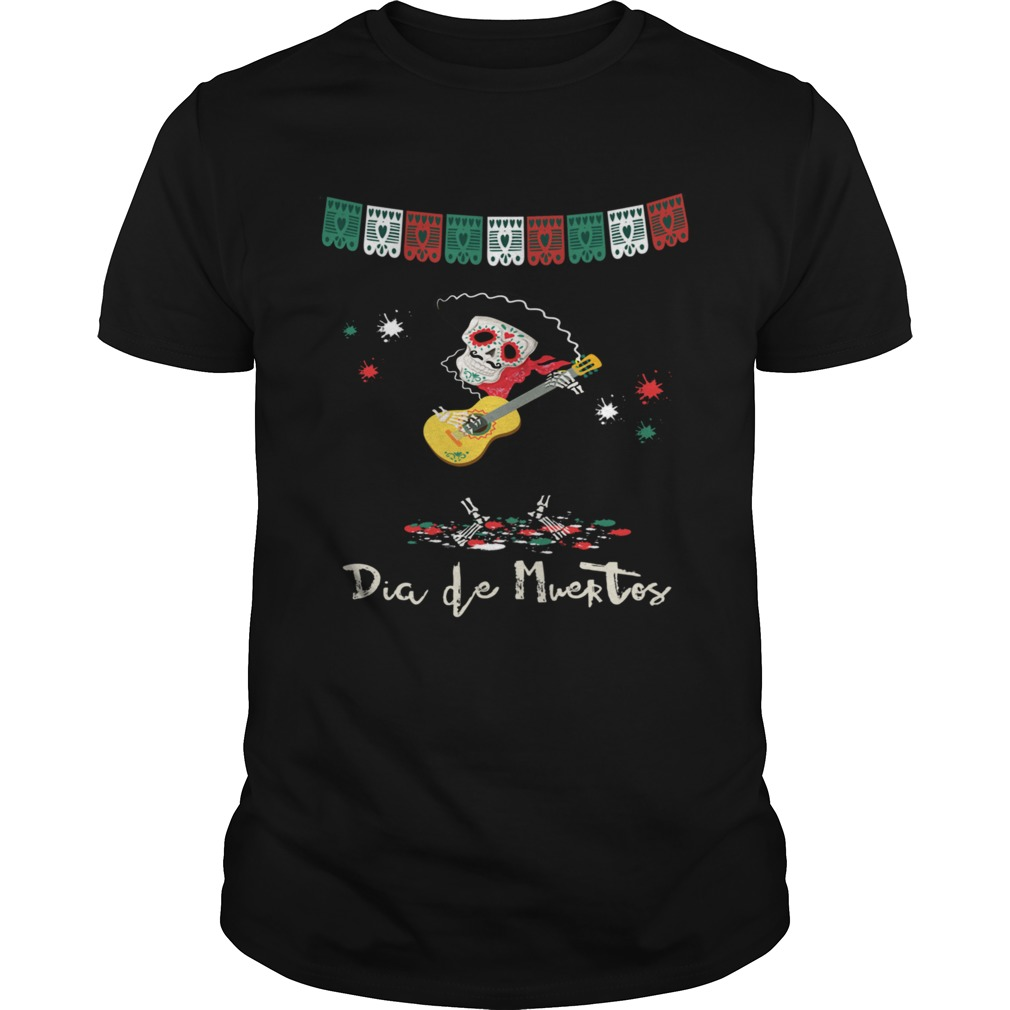 Dia De Muertos Day Of The Dead Mariachi Guitar Player Skeleton  Unisex