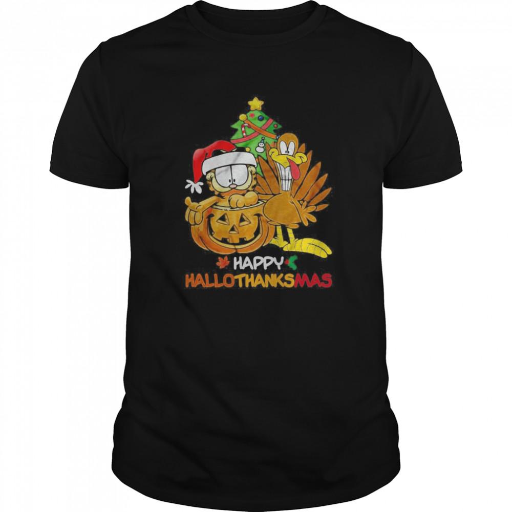 Garfield Happy Hallothanksmas  Classic Men's T-shirt