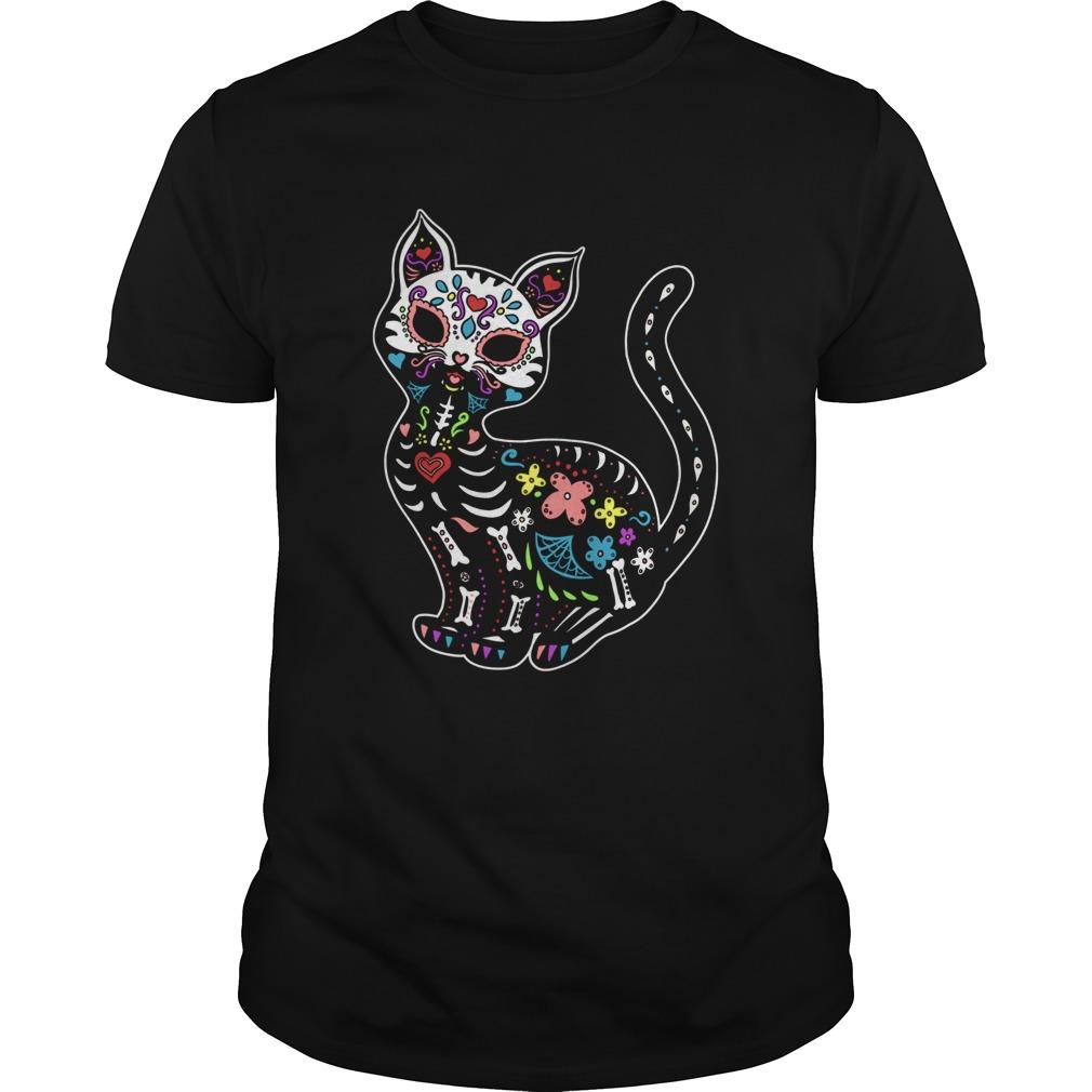 Gatos Sugar Skull Kitty  Unisex