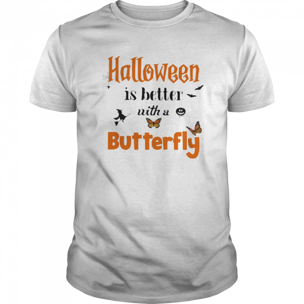 Halloween is better with a butterfly  Classic Men's T-shirt